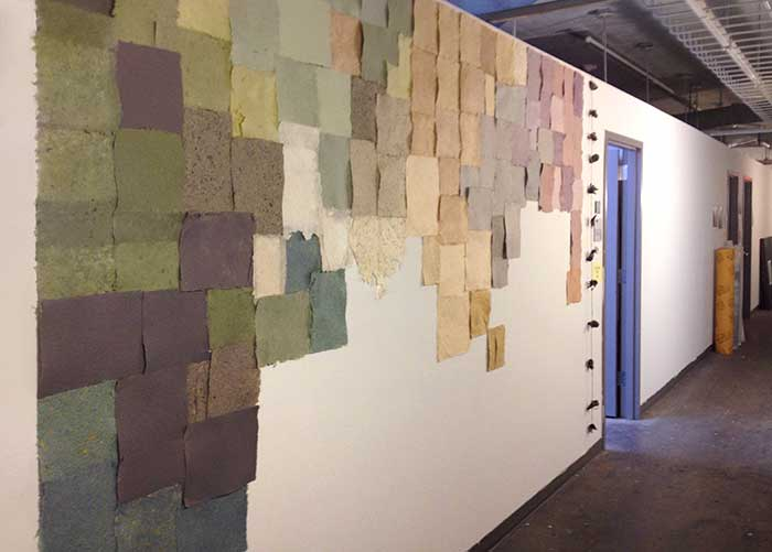 Paper Wall Installation